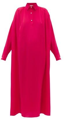 Ryan Roche - Pearl-button Silk Shirt Dress - Red