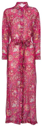 Etro Floral cotton and silk shirt dress
