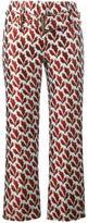 Philosophy Di Lorenzo Serafini - leaf jacquard trousers - women - Polyester - 44