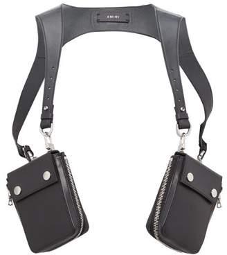 Amiri Leather Harness Bag - Mens - Black
