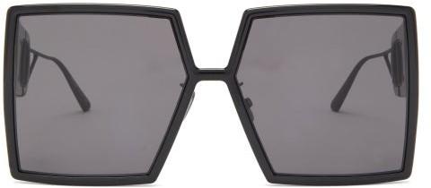 Christian Dior 30montaigne Square Acetate Sunglasses - Black