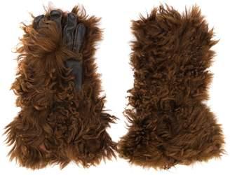 Marni faux fur gloves