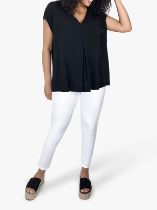 Live Unlimited Curve Pleat Blouse, Black