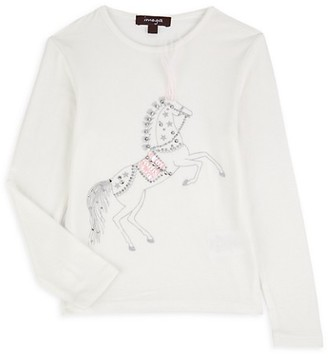 Imoga Little Girl's Girl's Ariana Horse-Print Long-Sleeve
