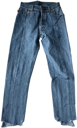 Vetements Blue Denim - Jeans Jeans for Women