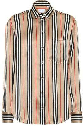Burberry Icon Stripe silk-satin shirt