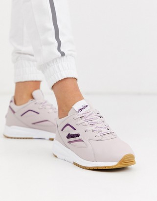 Ellesse contest leather trainers in violet