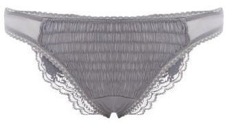 La Perla Lapis Leavers-lace Brazilian Briefs - Womens - Blue