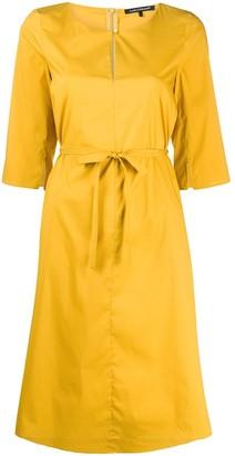 Luisa Cerano Tie-Waist Midi Dress
