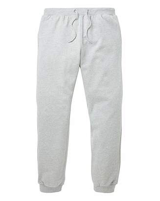 Jacamo Grey Cuffed Jog Pants 31in