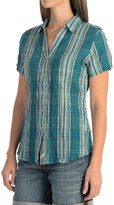 Woolrich Carrabelle Seersucker Shirt - Short Sleeve (For Women)