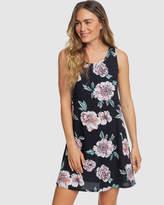 Roxy Womens Become Foam Printed Tank Dress