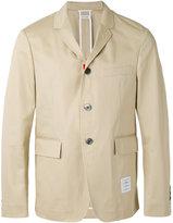 Thom Browne patch detail blazer - men - Cotton - 0