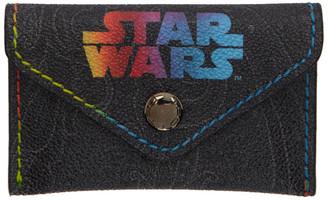 Etro Black Star Wars Edition Arnica Card Holder