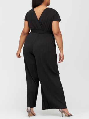 AX Paris Curve Pleated Jumpsuit - Black