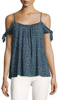 Bailey 44 Wahine Ditsy Floral Cold Shoulder Top, Blue