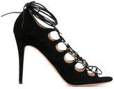 Valentino Garavani Valentino 'Rockstud' lace-up sandals - women - Leather/Suede - 36.5