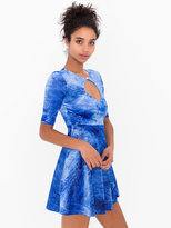 American Apparel Shiny Velvet Keyhole Dress