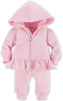 Ralph Lauren Girls' 2-Piece Zip-Front Hoodie & Pants Set