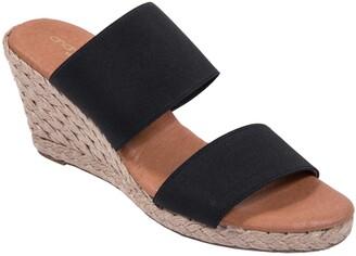 Andre Assous Amalia Strappy Espadrille Wedge Slide Sandal