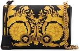 Versace baroque print leather shoulder bag