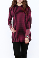 Now N Forever Striped Floral Tunic