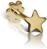 Maria Tash 3mm Star Thread Through Single Earring - Yellow Gold