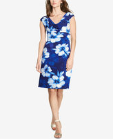 Lauren Ralph Lauren Petite Floral-Print Cowl-Neck Dress