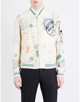 Alexander Mcqueen Regular-fit Graphic-jacquard Bomber Jacket