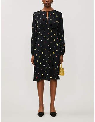 Diane von Furstenberg Andrea printed crepe midi dress