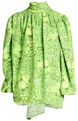 Balenciaga Twisted Floral Blouse