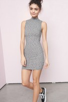 Garage Mock Neck Open Bodycon Dress