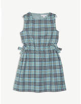 Burberry Bow check print cotton dress 4-14 years
