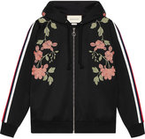 Gucci Embroidered jersey sweatshirt - women - Cotton/Polyester - M