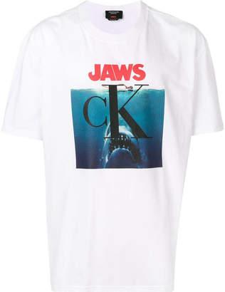 Calvin Klein jaws t-shirt white