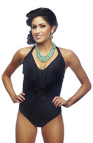 Nicolita Swimwear - Rumba Ruffles Black One Piece Swimsuit