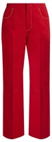 No.21 NO. 21 High-rise straight-leg cotton-blend trousers