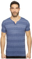 Lucky Brand Intarsia Button Notch Tee Men's T Shirt