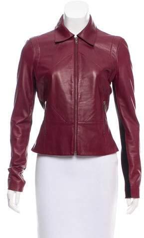 Derek Lam Knit-Paneled Leather Jacket
