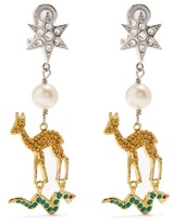 Miu Miu Star, deer and snake clip-on earrings