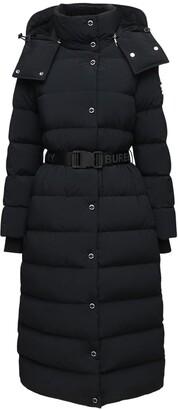 Burberry Long Hooded Tech Down Coat