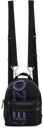 Kenzo Black Mini Embroidered Backpack