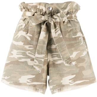 AllSaints Paperbag Army Shorts