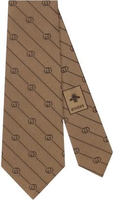 Gucci GG logo print tie
