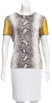 Equipment Snakeskin Print Short Sleeve Top