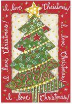 """Evergreen I Love Christmas"""" Indoor / Outdoor Garden Flag"""