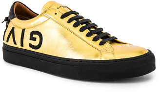 Givenchy Urban Street Low Sneakers in Gold | FWRD