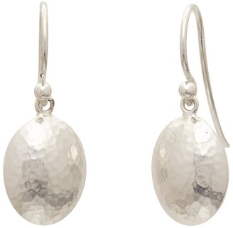 Gurhan Sterling Silver Hammered Disc Drop Earrings