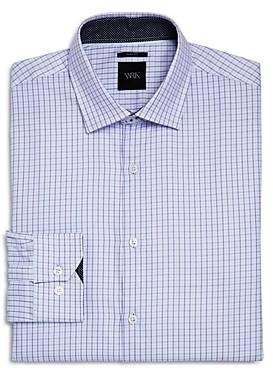 Work Rest Karma Small Grid Slim Fit Dress Shirt