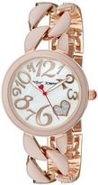 Betsey Johnson Women's Quartz Metal and Alloy Watch, Color:Pink (Model: BJ00329-06)